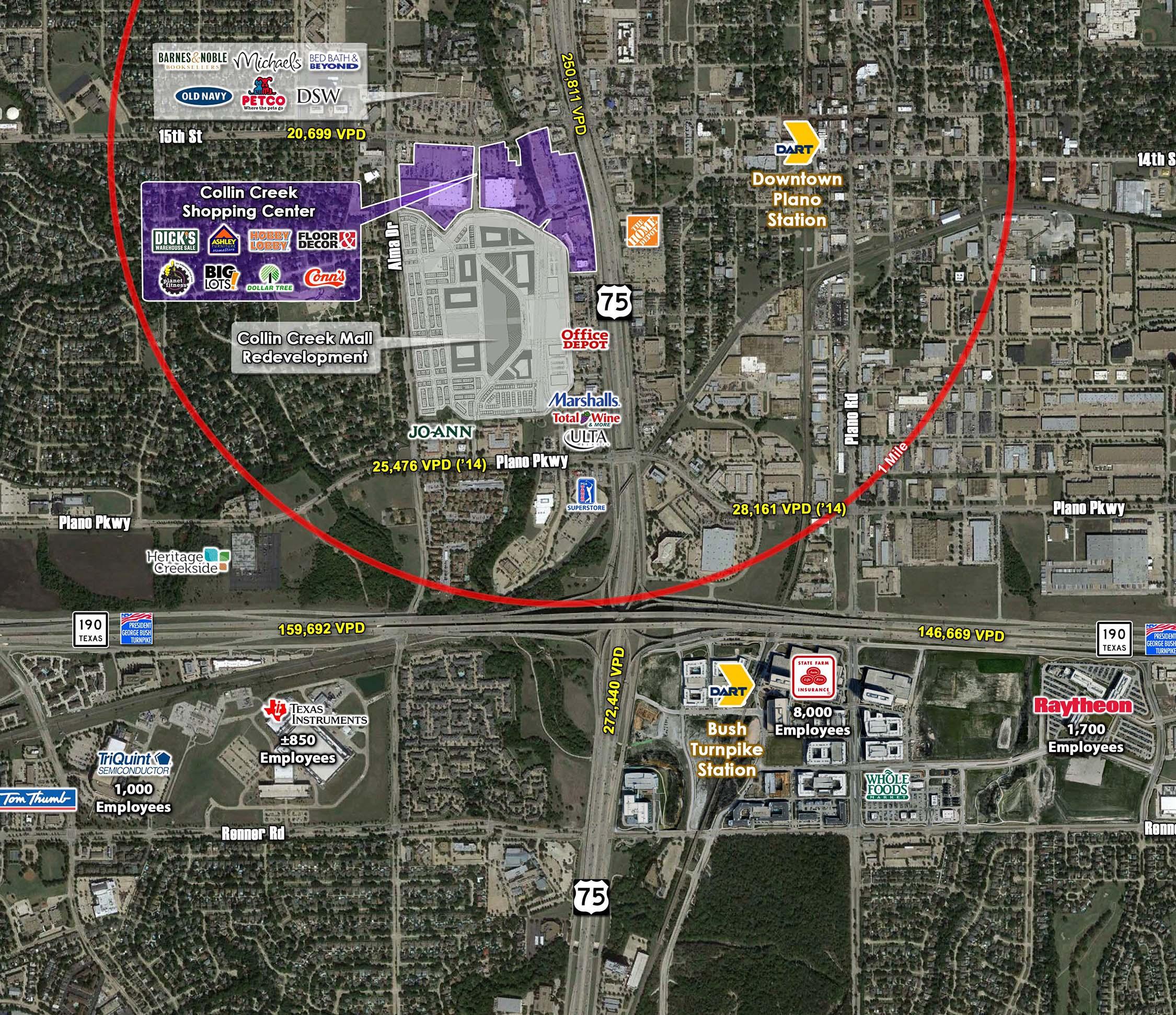 CollinCreekShoppingCenter_arial-map